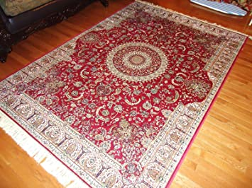 Stunning Silk Persian Area Rugs Red Door Mats Indoor Foyer Rug Small Rugs  For Bedroom Entrance
