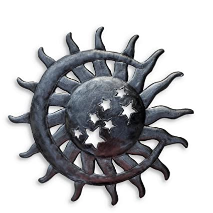 Amazon.com: It s Cactus – Metal Art Haití sol y luna con ...