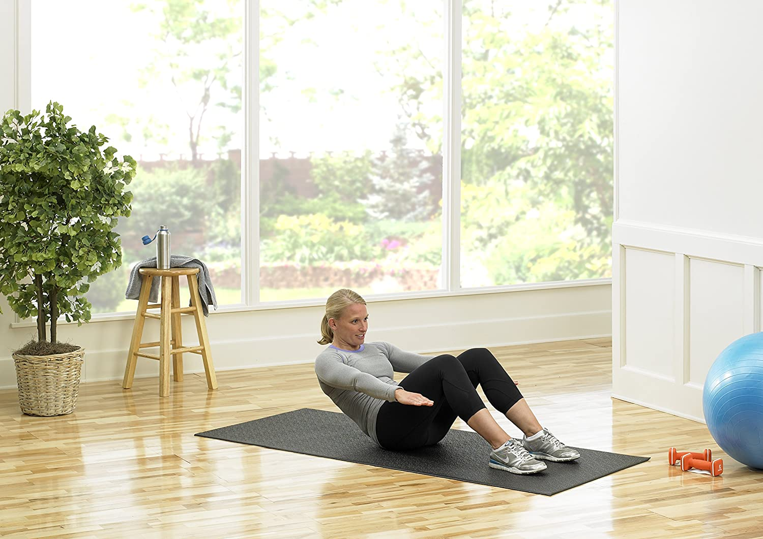 2.5 Feet x 5 Feet 30-Inch x 60-Inch for Indoor Cycles Recumbent Bikes Upright Exercise Bikes and Steppers SuperMats Heavy Duty Equipment Mat 13GS Made in U.S.A