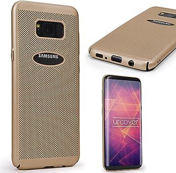 Urcover Funda Galaxy S8 Carcasa Ultrafina Malla Champaña Oro Case ...