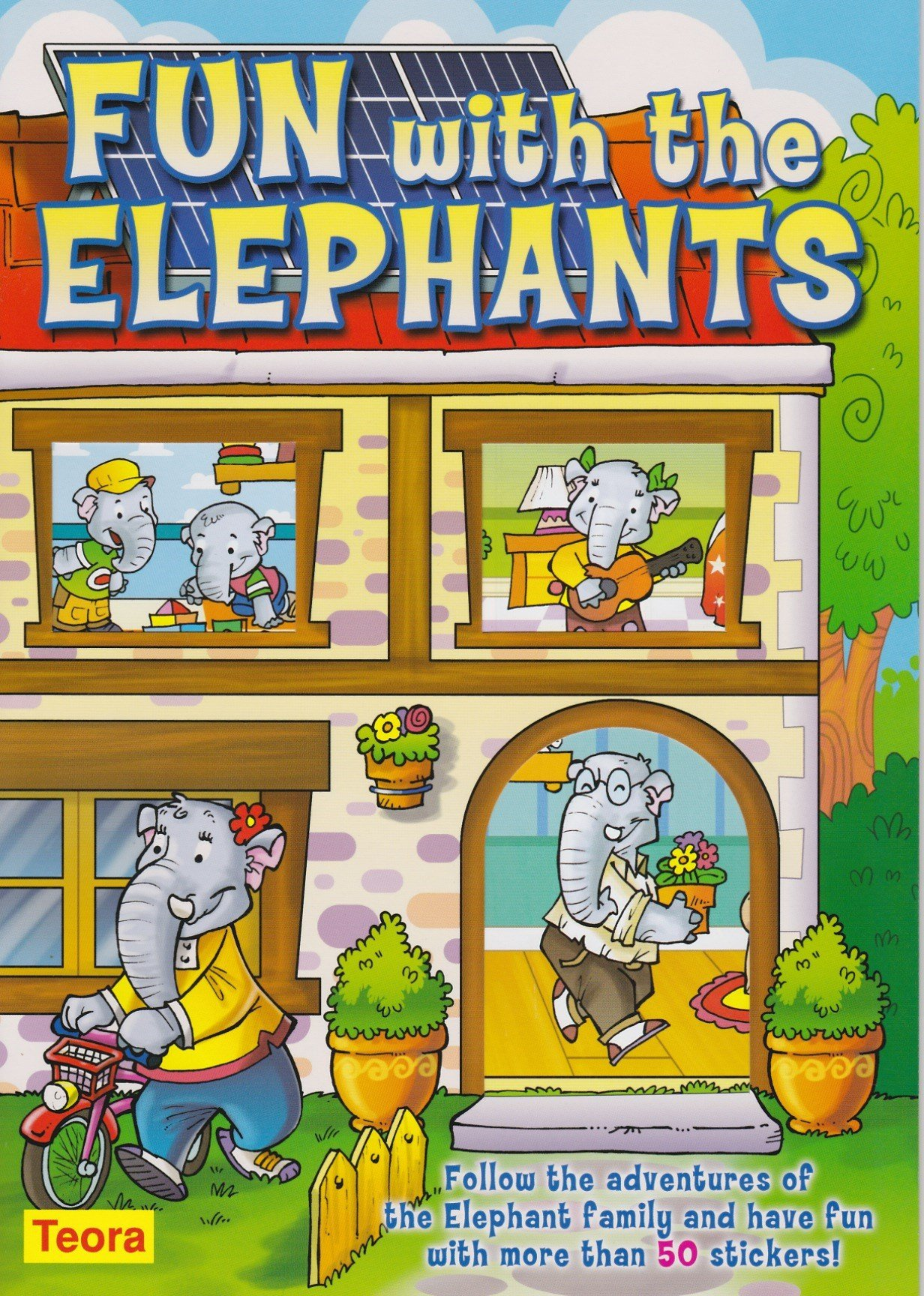 Preschool Activity Book with Stickers: Fun With the Elephants PDF