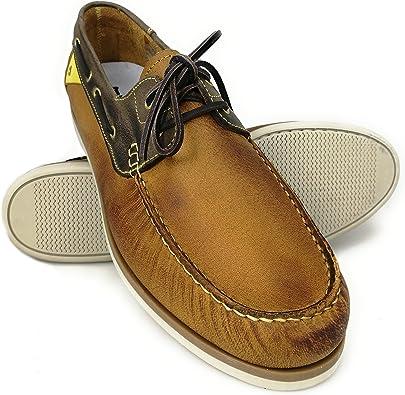 Zerimar Náuticos de Piel para Hombre   Náuticos Hombre Verano   Zapatos Náuticos Hombre   Mocasines Hombre