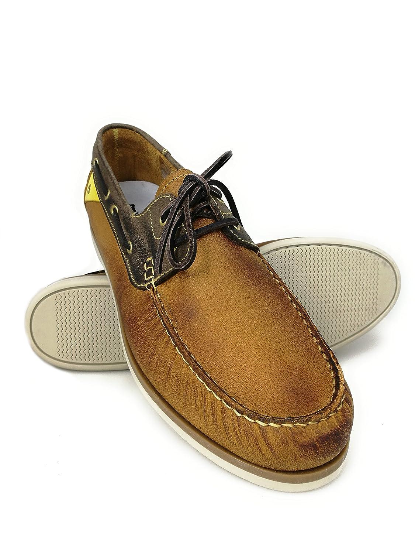 Zerimar Náuticos de Piel para Hombre | Náuticos Hombre Verano | Zapatos Náuticos Hombre | Mocasines Hombre | Tallas Grandes 46-50 50 EU|Cuero