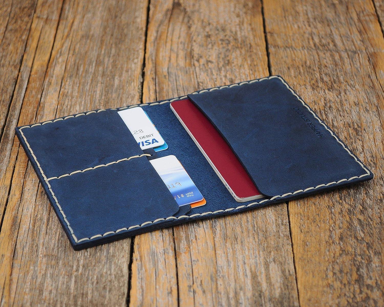 Blaue Reisepassh/ülle Kreditkarten und Banknoten langlebige Aufbewahrung von ID Kartenhalter Kartenh/ülle Geldb/örse Portemonnaie Passport H/ülle