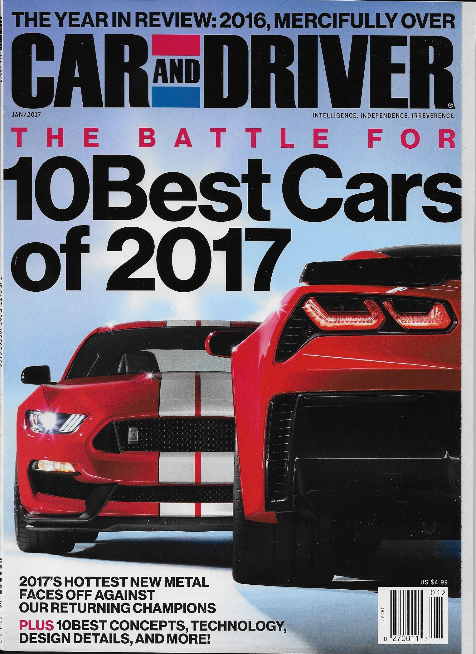 CAR AND DRIVER Magazine January 2017 Best Cars of 2017, Brock ...