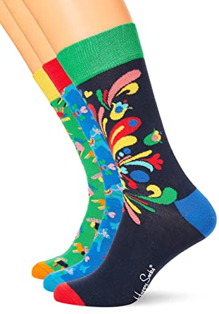 Mens Swedish Edition Gift Box Socks, Multicoloured, 7-10 (Manufacturer Size: 41-46) pack of 4 Happy Socks