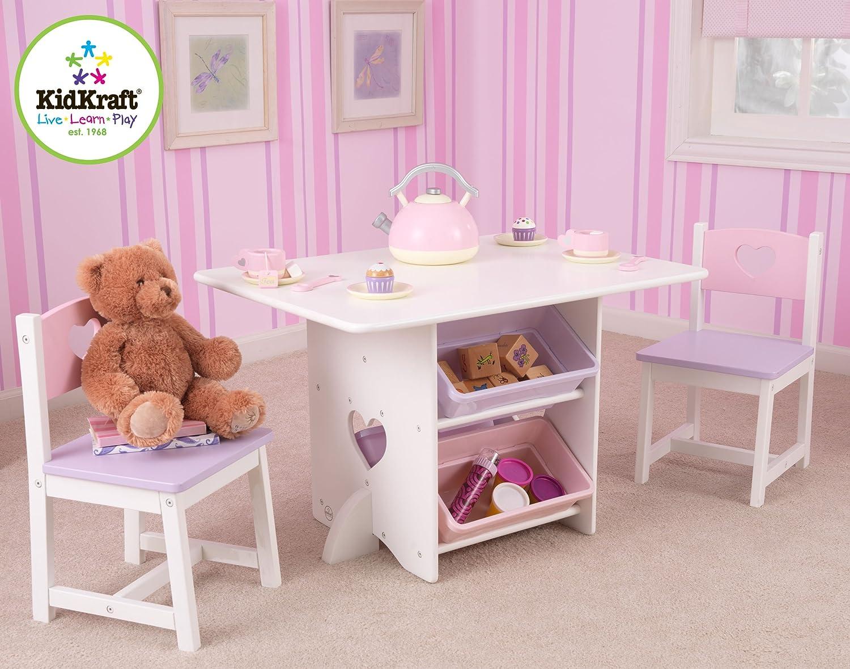 Kidkraft Heart Table And Chair Set Amazoncom Kidkraft Heart Table And Chair Set Toys Games