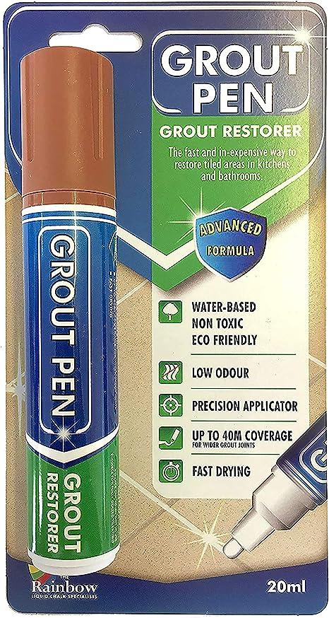 Gris Rtengtunn Grout Pen Tile Repair 3 Colores Pen White Tile Refill Impermeable a Prueba de Moho