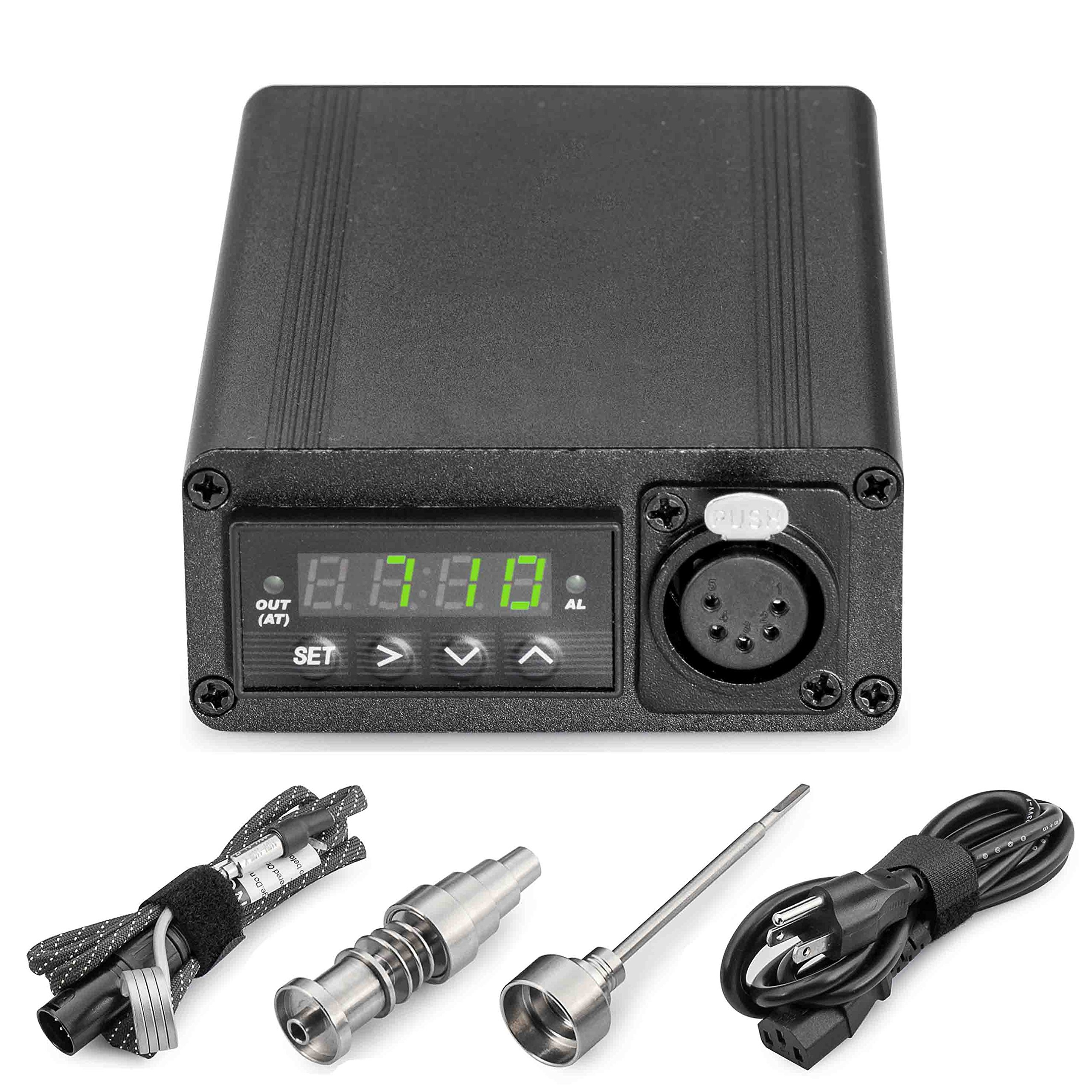 Vool Professional Aromatherapy Diff with Temp Controller Box and Titanium Accessories