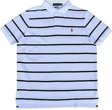 Ralph Lauren - Polo para Hombre, diseño a Rayas, Color Blanco y ...