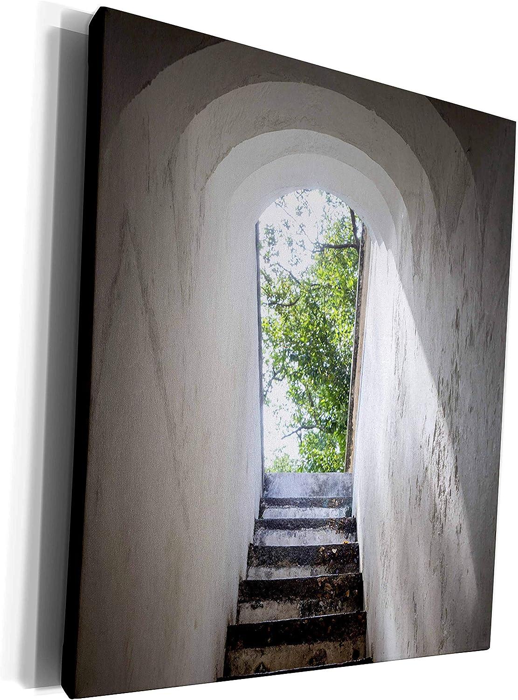 3dRose Danita Delimont - Stairway - Singapore, Fort Canning Park, bunker entranceway - Museum Grade Canvas Wrap (cw_257290_1)