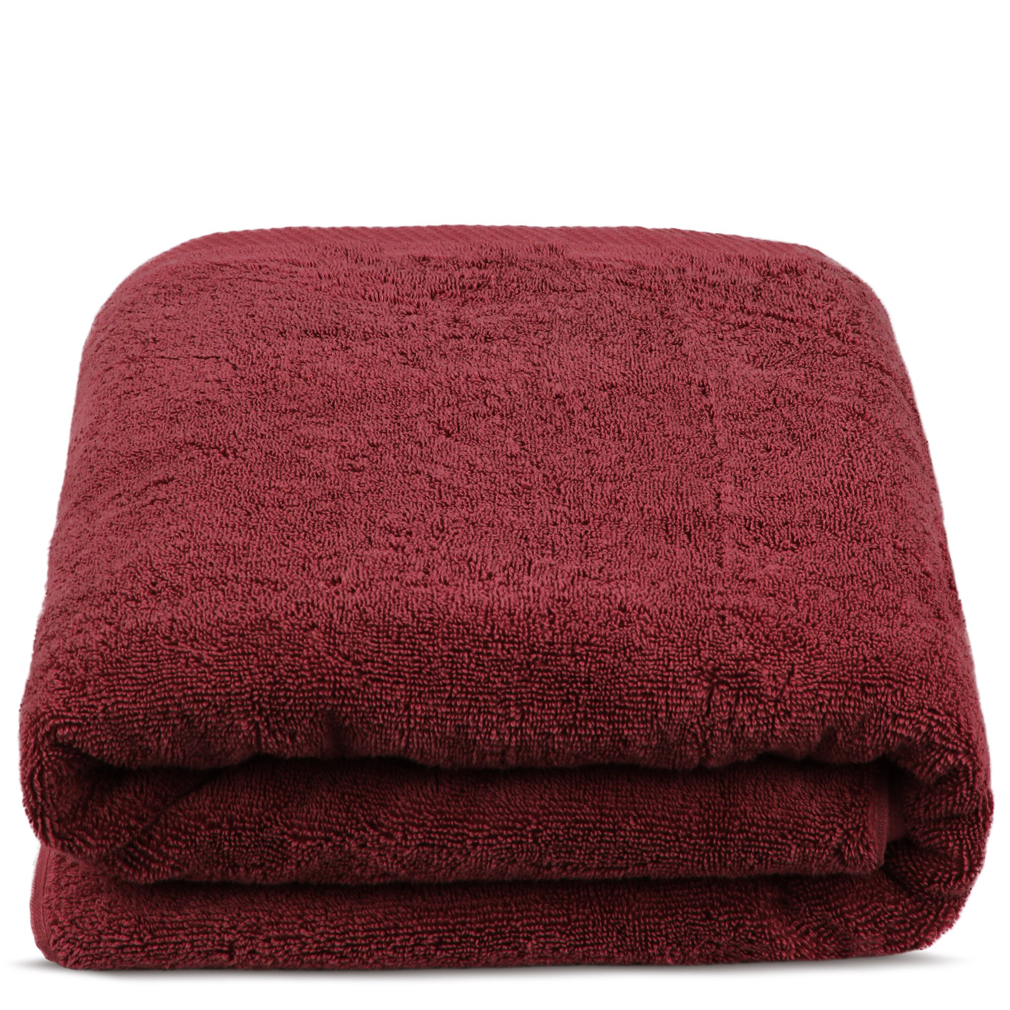TURKUOISE TURKISH TOWEL % 100 Turkish Cotton Luxury and Super Soft Towels (Bath Sheet Oversize, Cranberry)