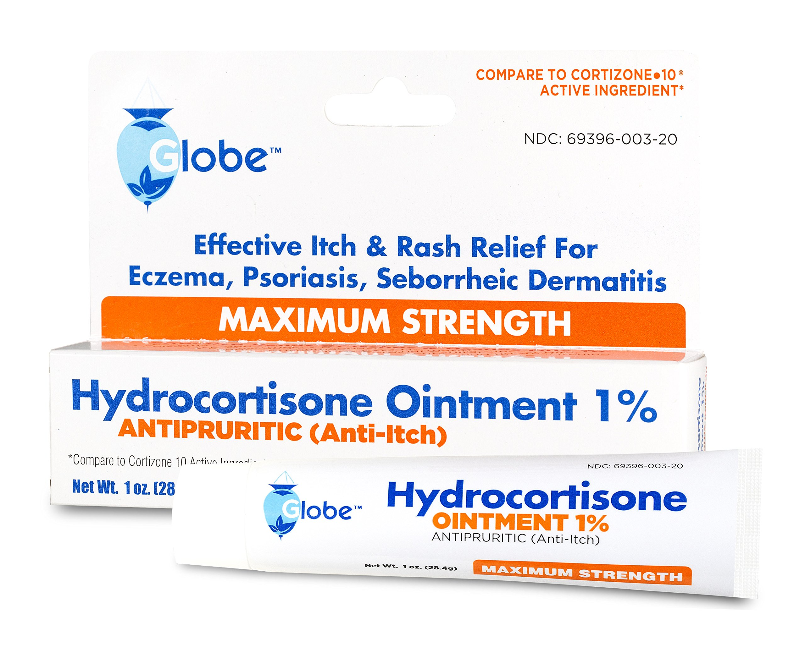 Hydrocortisone Maximum Strength Ointment 1%, USP 1 oz (Compare to the Active Ingredients in Cortizone-10) (180 Tubes/Carton) Distributors Price by Globe
