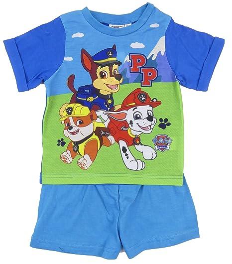 5794e766c Amazon.com  Paw Patrol Boys Short T Shirt Pyjama Sleepwear Cotton 18 ...