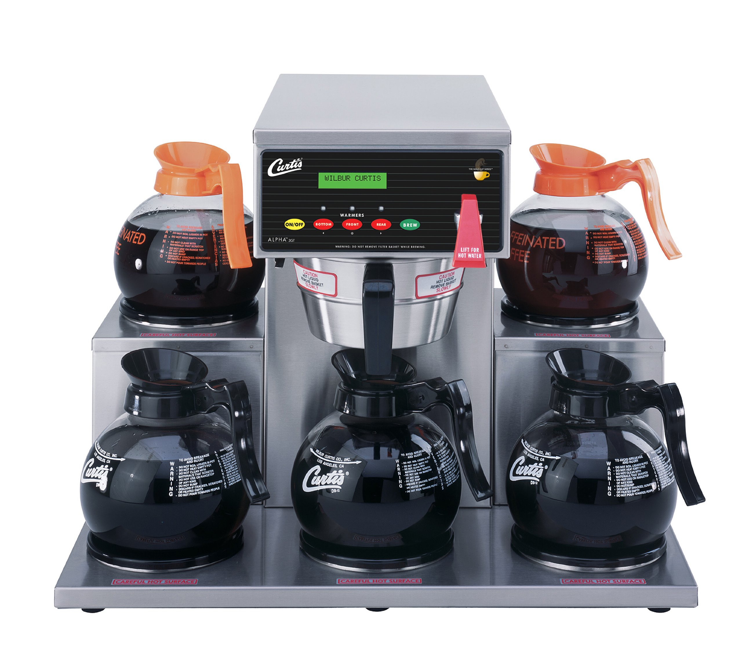 Wilbur Curtis G3 Alpha Decanter Brewer 64 Oz Coffee Brewer, 5 Station, 5 Lower Right and Left Warmers - Commercial Coffee Brewer  - ALP5GT12A000 (Each)