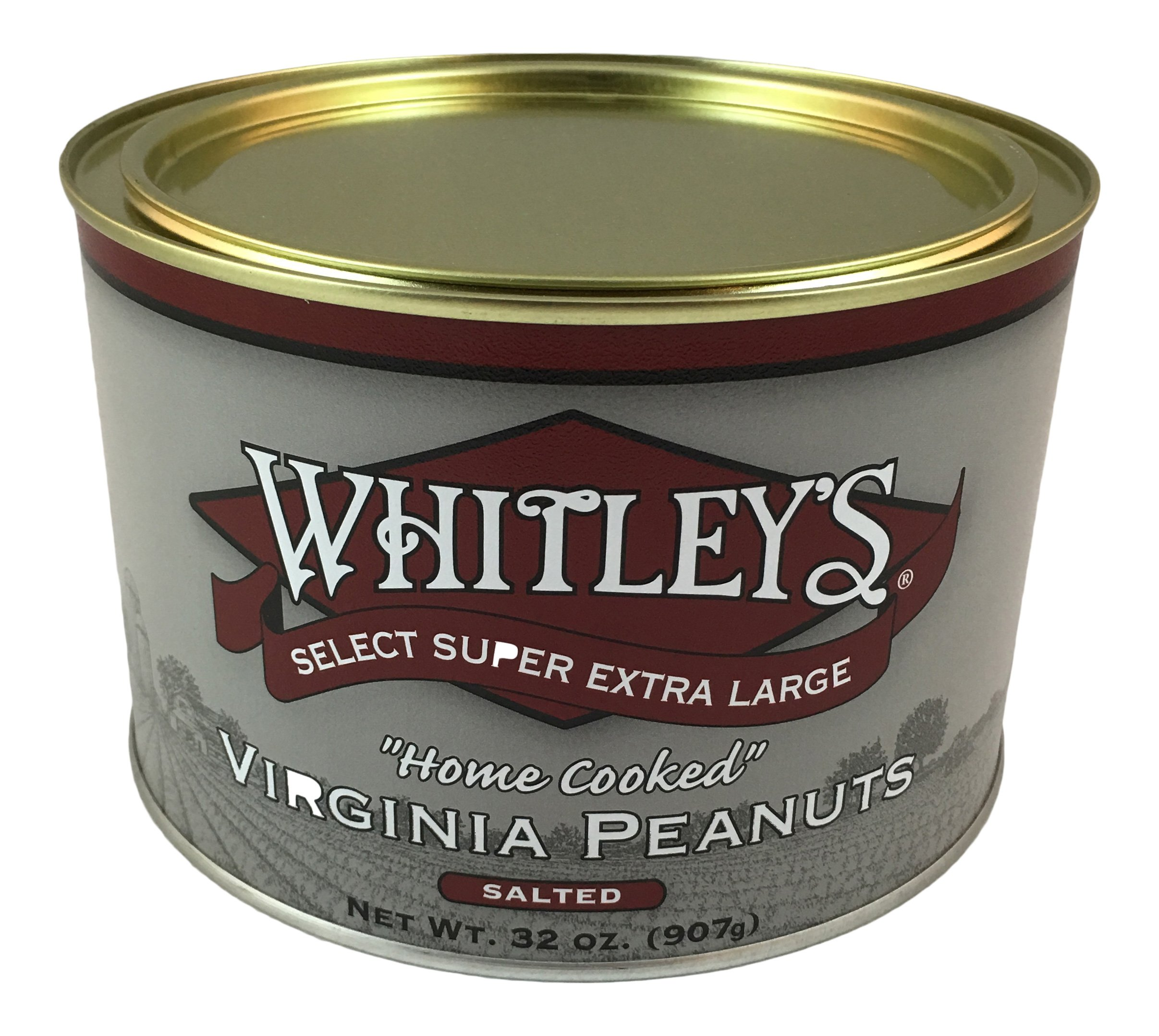 Whitleys Salted Virginia Peanuts 32 Oz.