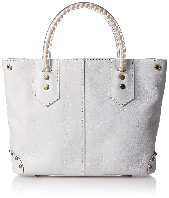 [カルネ] Floating Pearl Handle Leather Bag Medium CF-10090M B0742DXF2N ホワイト