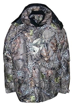 WFS para hombre tallas grandes Burly camuflaje 4 in1 caza chaqueta Parka, hombre, Burly Camo Tan: Amazon.es: Deportes y aire libre
