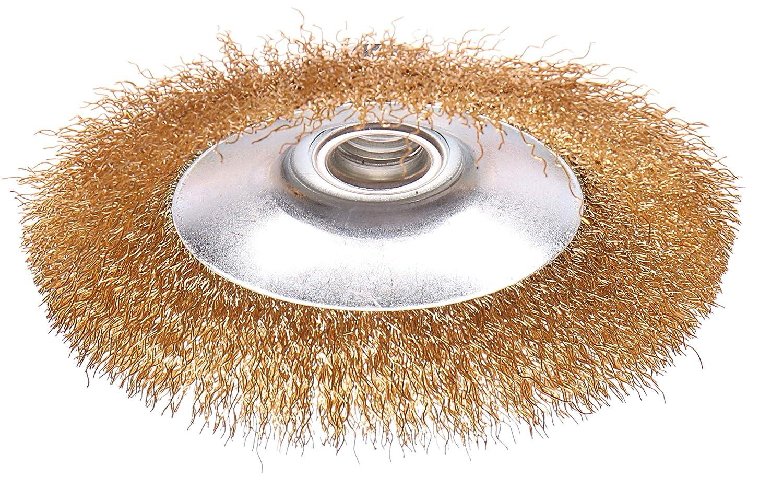Brosse circulaire /à fils M14/BROSSE tresse Brosse /Ø 100/F Meuleuse dangle vermessing