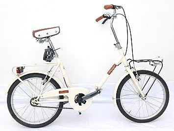 FAEMA Bicicleta Plegable 20 Acero Crema