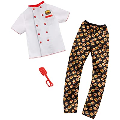 Barbie Clothes -- Career Outfits for Ken Doll, Hamburger Chef with Spatula, Multi: Toys & Games