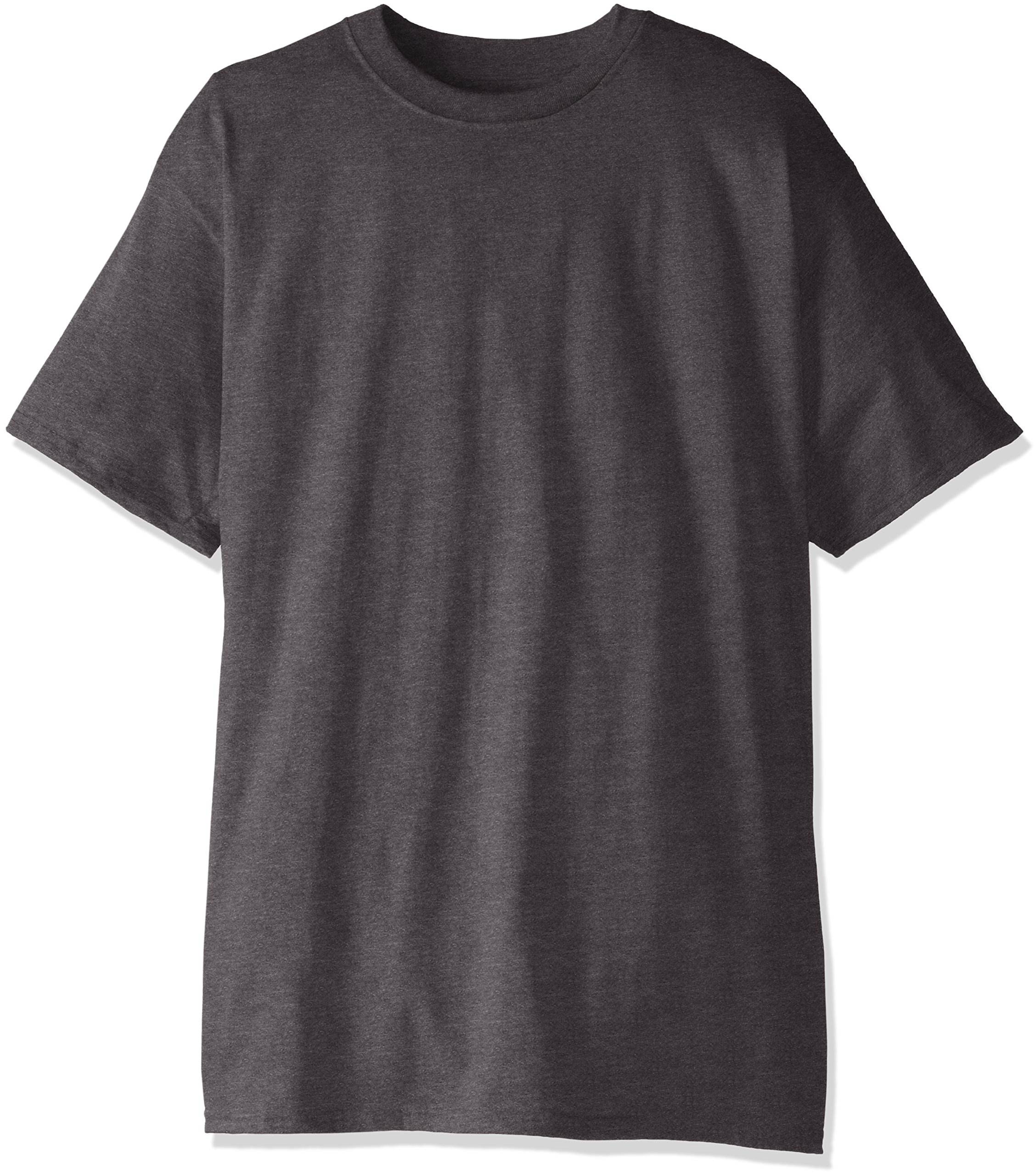 Hanes Men's Big and Tall Short-Sleeve Beefy T-Shirt (Pack of Two), Charcoal Heather, XLT