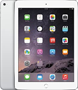 Apple iPad Air 2 MH2V2LL/A -16GB Wi-Fi + Cellular Silver (Renewed)
