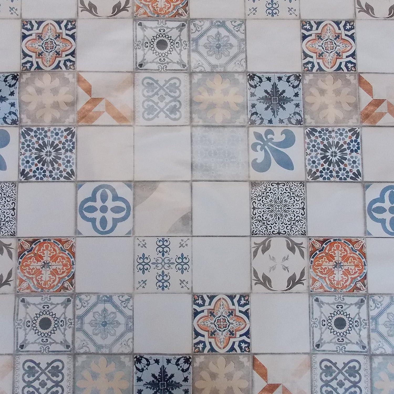 Wachstuch Mexico Karos Eckig 75x30 cm /· L/änge /& Breite w/ählbar/· abwaschbare Tischdecke