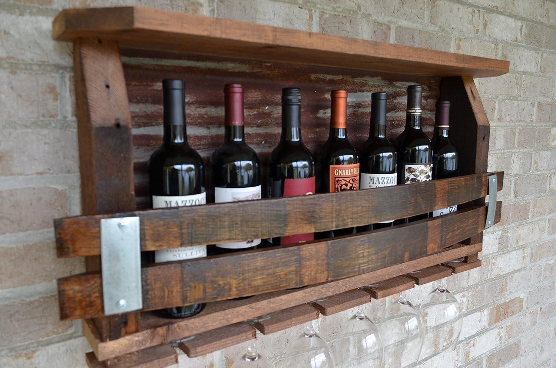 Wine Rack - Barn wood with Tin backing