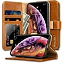 JisonCase iPhone X/Xs Leather Wallet / Flip Case