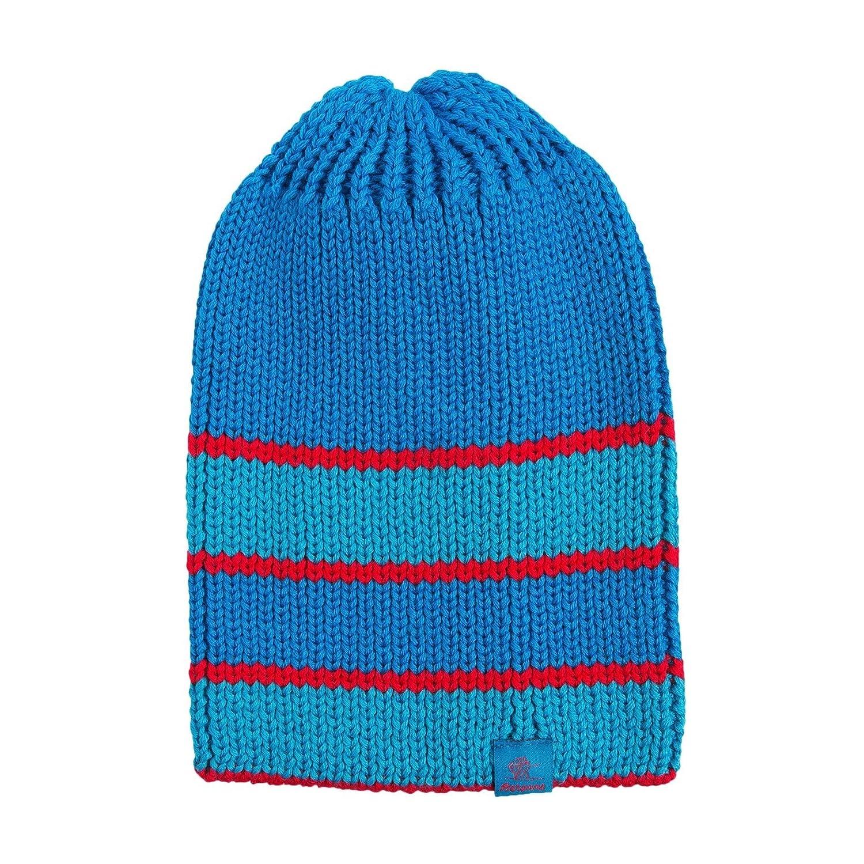 bluee Multi Bergans of Norway Striped Bris Ski Beanie Hat