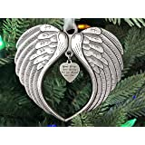 Christmas Ornaments Your Wings were Ready But My Heart was Not Ornament for Christmas Tree - Double Sided Angel Wing Memorial