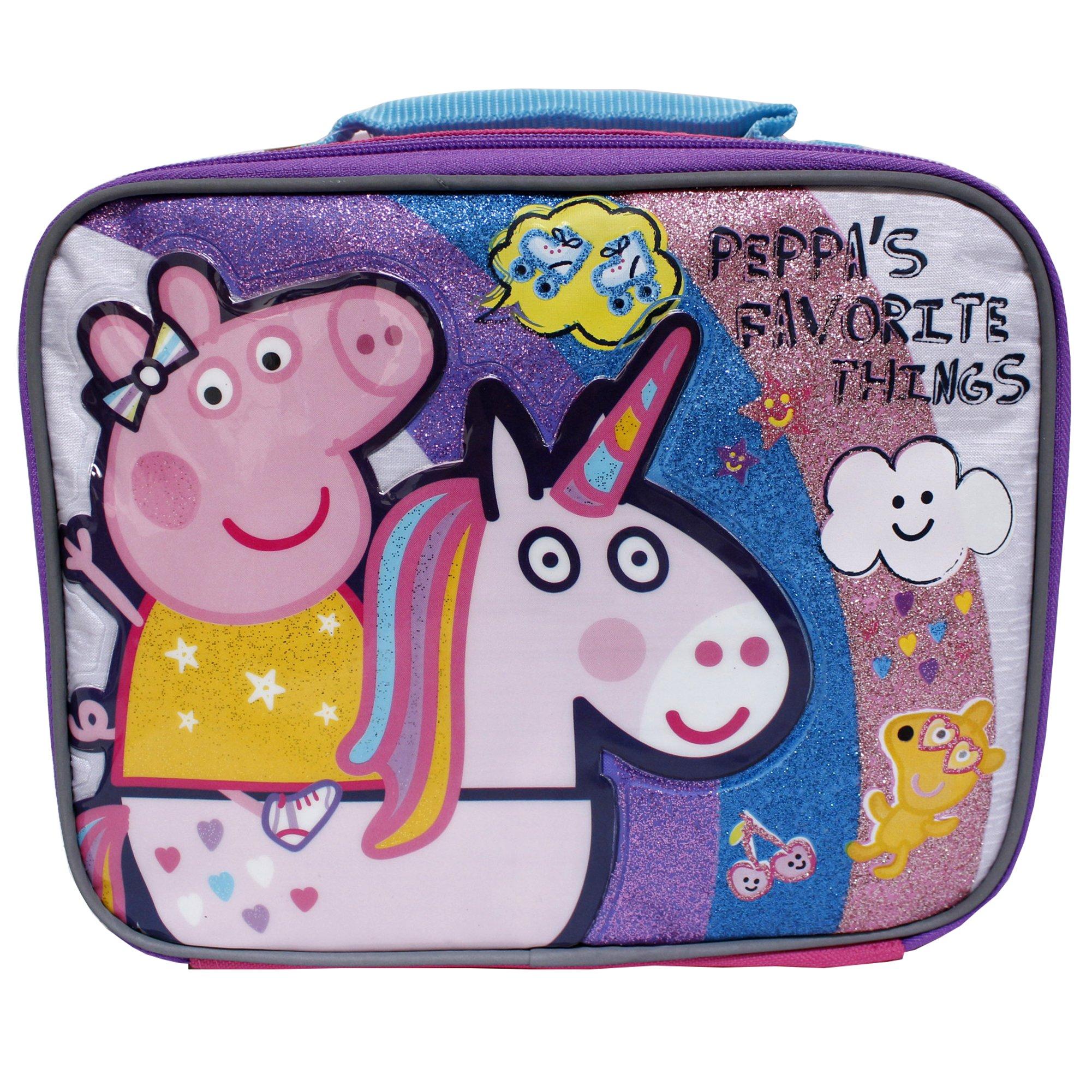 Peppa Pig Pink Peppa's Favorite Things Girls' Insulated School Lunch Bag