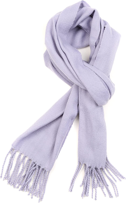 Sakkas Booker Kaschmir f/ühlen feste farbige Unisex Winter-Schal mit Fransen