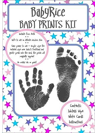 NEW INKLESS WIPE HAND /& FOOT PRINT KIT BABY /& NEWBORN SAFE NEW BOY GREAT GIFT