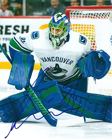 42cbd2e7546 Autographed Anders Nilsson Vancouver Canucks 8x10 Photo - COA at ...