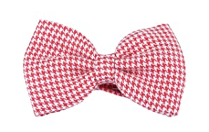 Handmade Classic Red & White Pre-Tied Bow Tie from Penelope`s Bow Ties