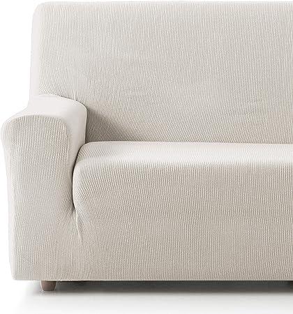 Oferta amazon: Eiffel Textile Funda Sofa Elastica Protector Adaptable Rústica Sofá 3 Plazas, 50% Poliéster, Marfil