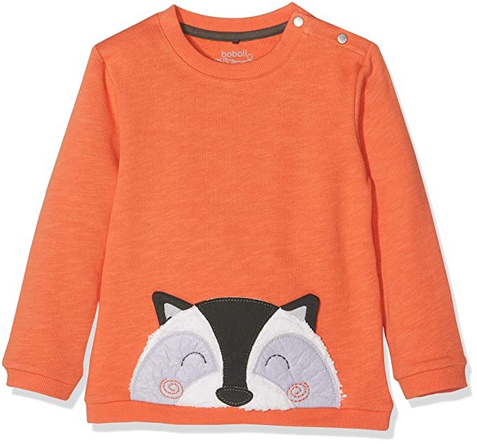 e6bc479a boboli Fleece Sweatshirt Flame for Baby Boy, Felpa Unisex-Bimbi, (Arancione  5067
