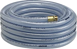 "Underhill H10-100C 1"" Ultramax Economy Lightweight Commercial Hose, 100' Length, Clear"