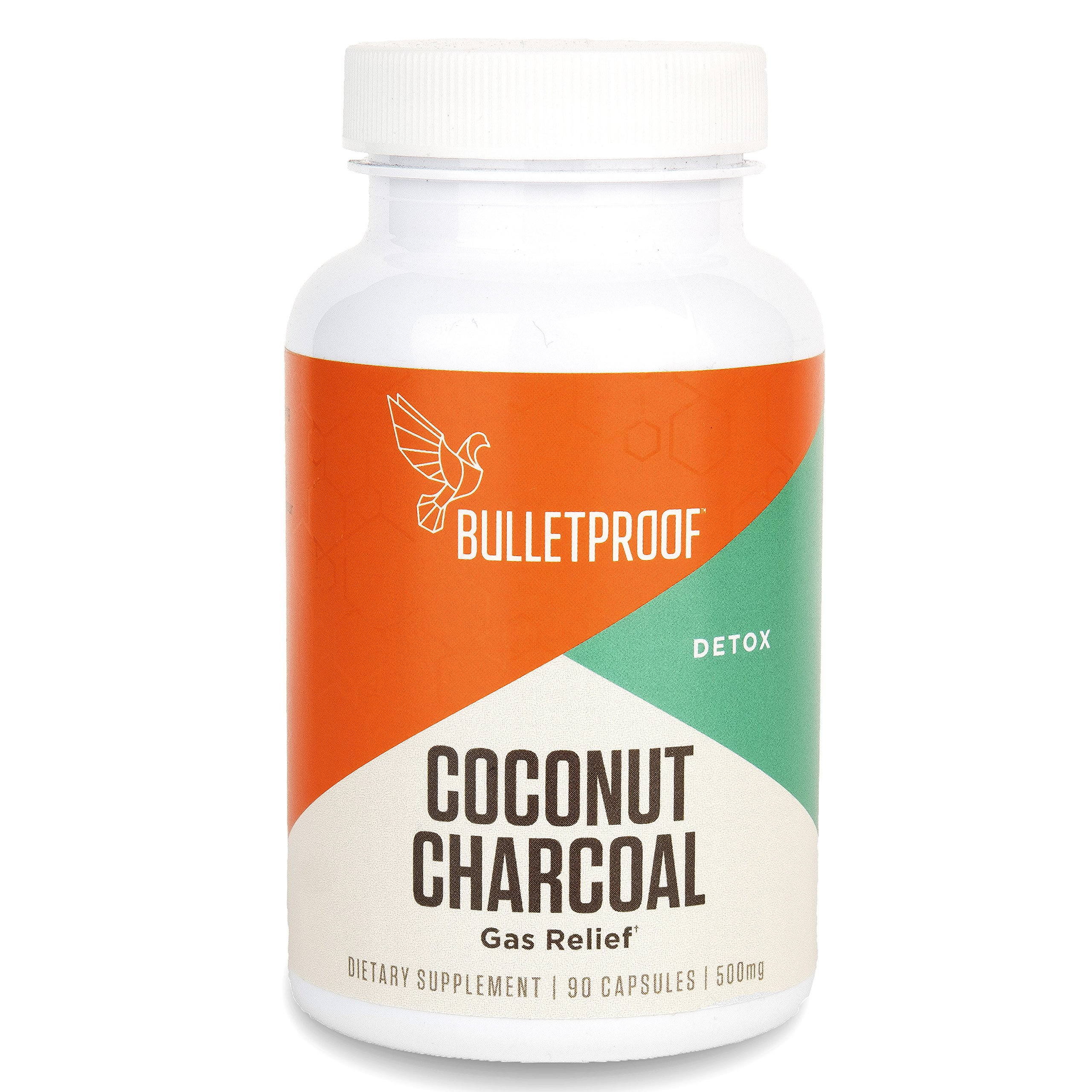 Bulletproof Coconut Charcoal, Supports Better Digestion and Gas Relief (90 Capsules)