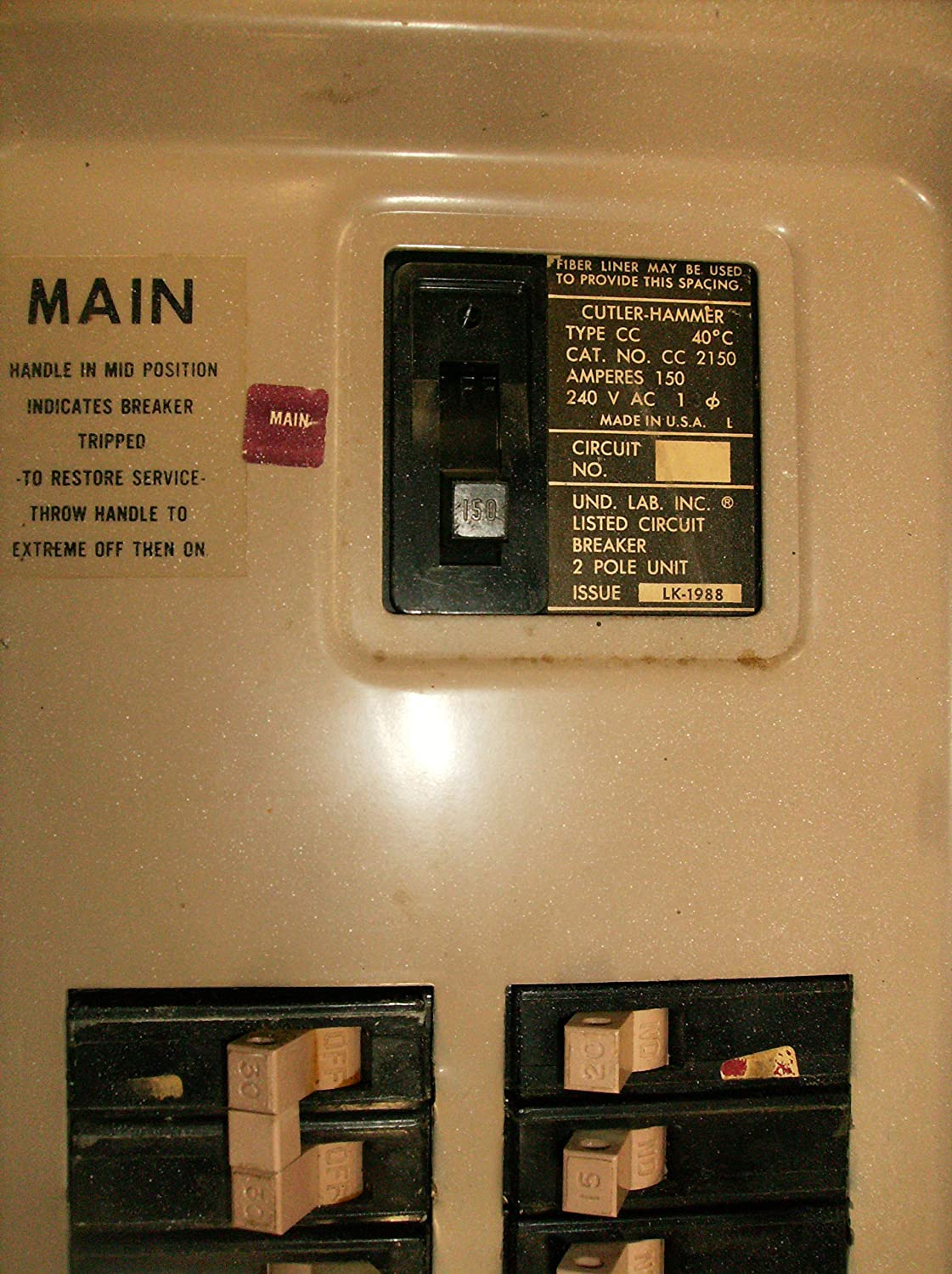 Eat Ch200xa Eaton Or Cutler Hammer Generator Interlock Kit Vertical 30 Amp 3 4 In Doublepole Type Ch Circuit Breakerch230 The Home Throw Main 150 200 Panel