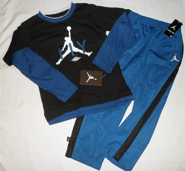 93adcf203d1 Amazon.com: Nike Air Jordan FLY Jumpman Logo Toddler Boys Shirt Pants  Outfit Set Size 4 4T: Baby