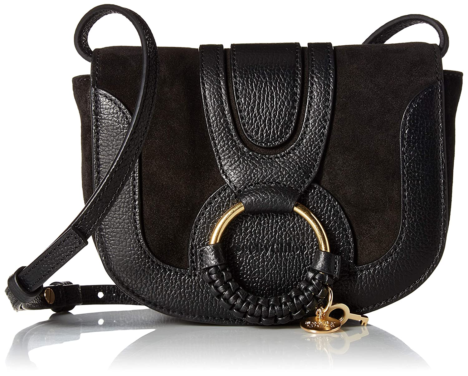 e38faaee7fb Amazon.com: See by Chloe Women's Hana Small Leather Crossbody Bag ...