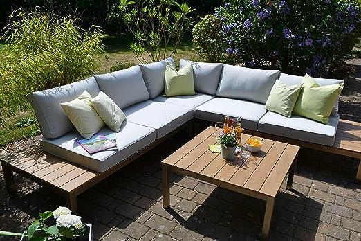 Conjunto de muebles de jardín Bomey de aluminio Orlando de 2 piezas, con revestimiento de acero