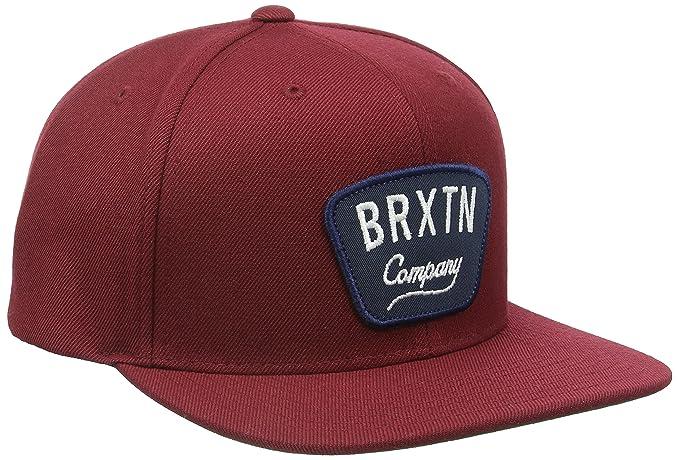 ac017c5d1 Brixton Men's Gaston Snapback, Burgundy One Size: Amazon.ca ...