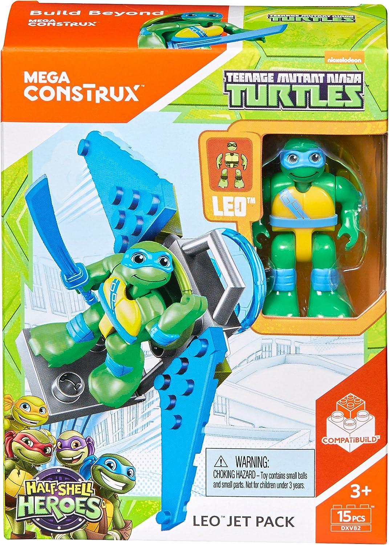 Mega Construx Teenage Mutant Ninja Turtles Leo's Jet Pack Figure