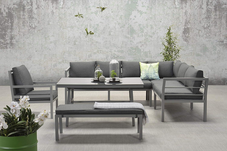 Garden Impressions Hohe Dinning Aluminium Lounge Blakes XL Anthrazit Rechts, inklusive zusätzlichem Sessel