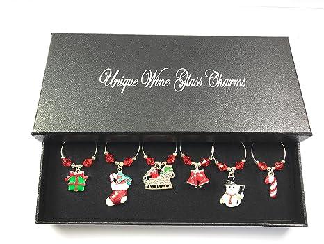 Lavoretti Di Natale Handmade.Regalo Di Natale Per Bicchieri Da Vino Con Confezione Regalo Handmade By Libby S Market Place Dal Venditore Uk