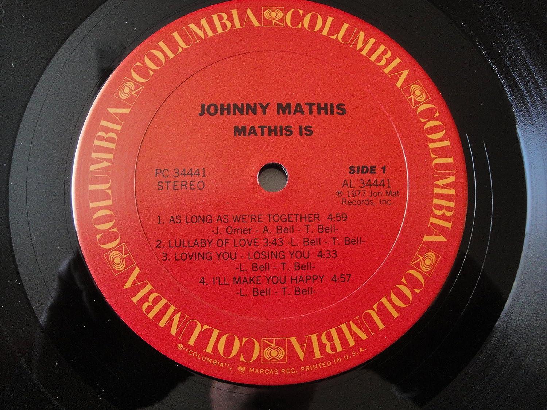 JOHNNY MATHIS - mathis is... LP - Amazon.com Music